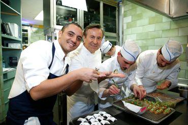 Daniel Boulud in the Daniel kitchen on March 8, 2020.