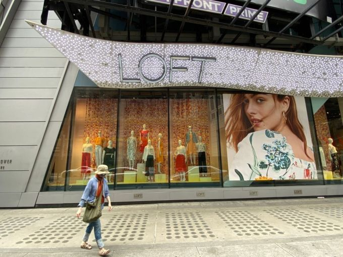 Loft store in Times Square.