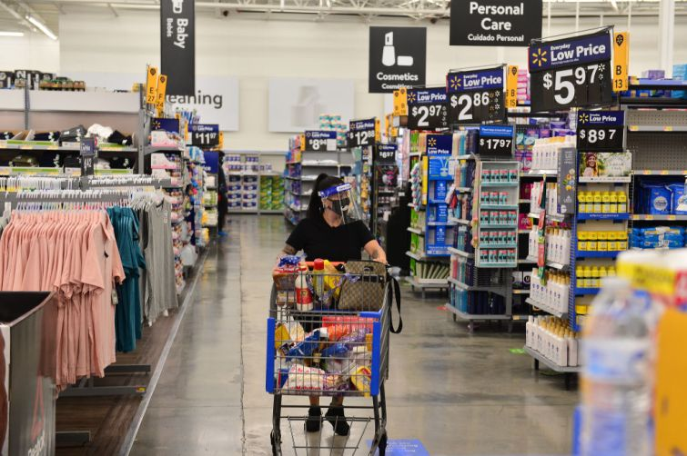 Shopper in Walmart