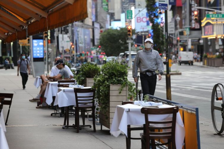 Even with outdoor dining and drinking, restaurants and bars in New York City continue to struggle and pay rent.