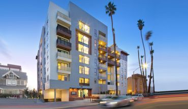 The Maya Apartments development is located at 535 South Kingsley Drive, near a Metro subway stop on Wilshire Boulevard.