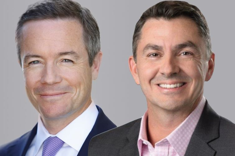 Andrew McDonald, left, has replaced Shawn Mobley, right, as chief executive of Americas for Cushman & Wakefield.