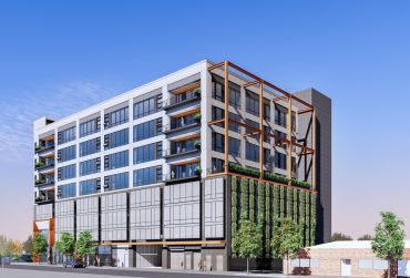 The nine-story development at 2130 Violet Street, is expected to be complete by early 2022.