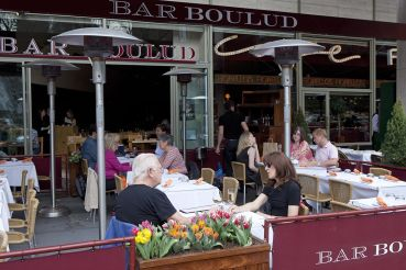 Daniel Boulud's restaurant across the street from Lincoln Center.