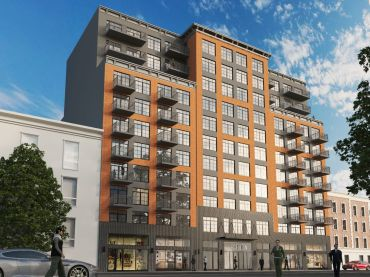 The Moinian Group's new residential development, 1428 Fulton Street in Brooklyn.