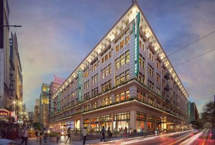 A rendering of the potential redevelopment at 801 S. Broadway in Downtown Los Angeles.