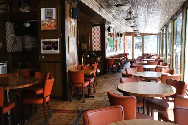 Empty New York City Restaurant