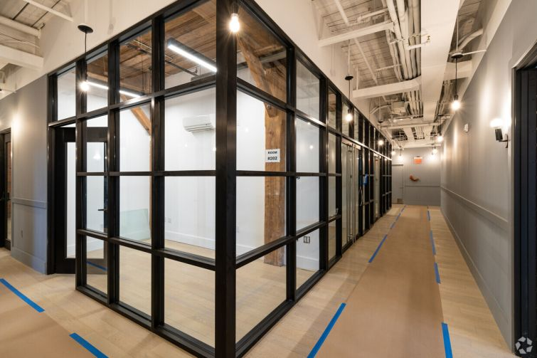 Hamway's firm also constructed prebuilt office suites on one of the floors.