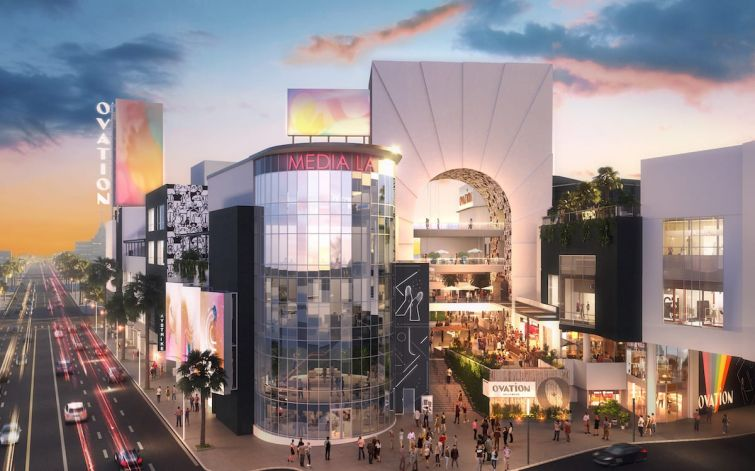 The 7.6-acre retail property will be repositioned and rebranded as Ovation Hollywood in a $100 million makeover.