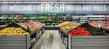 The 35,000-square-foot Amazon Fresh at 6245 Topanga Canyon Boulevard in Woodland Hills.