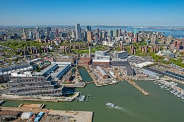 Aerial view of the Brooklyn Navy Yard.