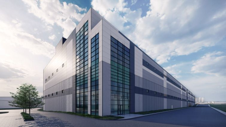 A rendering of the Bronx Logistics Center.