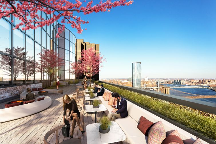 The renovation will add a number of amenities, including roof decks on previously unused gravel roofs.
