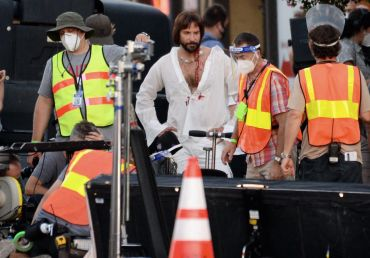 Actor Bradley Cooper on the set of Paul Thomas Anderson's new movie on Aug. 29.