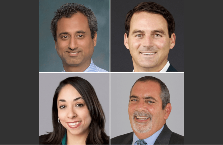 Clockwise from top left: Rishi Thakkar, Michael Gazzano, Anthony J. D'Angelo III, and Jessica White.