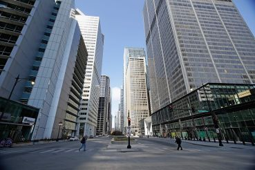 South Wacker Drive in Chicago.