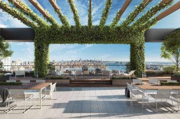 One Willoughby Square will have a number of private terraces, including this top-floor roof deck.