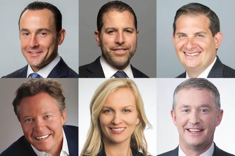 Clockwise from top left: Ronnie Levine, Josh Zegen, Peter Sotoloff, Dennis Schuh, Abbe Franchot-Borok and Warren de Haan.