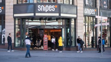 Snipes store in Hamburg, Germany.