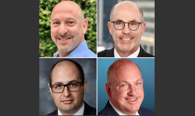 Clockwise from top left: Nick Franklin, Stephen Stein, John Ollen and Mike Huth.