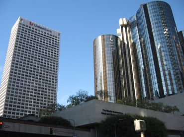 The 40-story tower is at 445 South Figueroa Street.