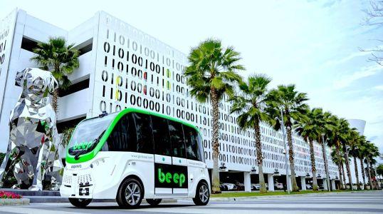 Beep autonomous vehicle shuttle.