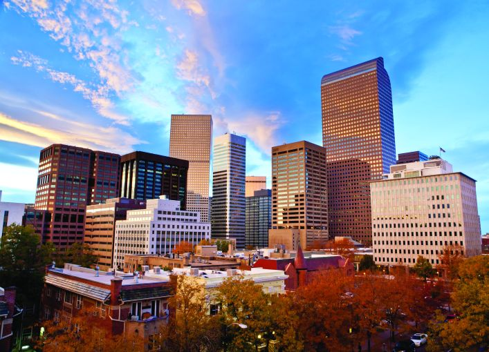 Investors are looking at areas in the Mountain West—like Denver, pictured—and the Sun Belt as safe havens for investing during the pandemic.