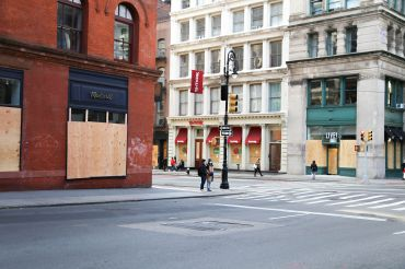 Soho boarded up