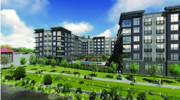 Rendering of Canfield Park at Fairfield Metro.