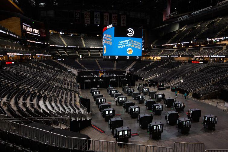 State Farm Arena.