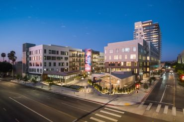 Designed by Joey Shimoda of Shimoda Design Group, the Netflix on Vine development covers a full block at 1341 Vine Street.