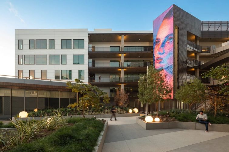 The mixed-use complex includes 355,000 square feet of office space, and 16,500 square feet of studio and production space — all leased to Netflix.