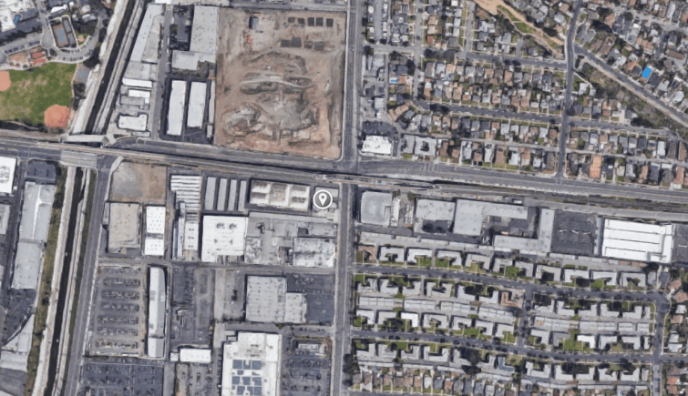 The property is located adjacent to Hayden Tract and a district of major office campuses and developments, as well as the La Cienega/Jefferson Metro station.