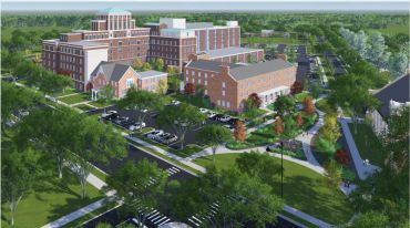 A rendering of a redeveloped Old Copley Hospital.
