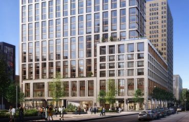 A rendering of the Broome Street Development at 55 Suffolk Street and 64 Norfolk Street.