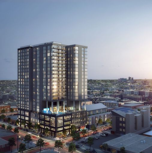 Rendering of The X Company's apartment and co-living project, X Denver2.