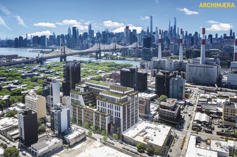 JNY Capital and United Hoisting Company are teaming up to build the nation's largest passive house office building an industrial property in Long Island City.