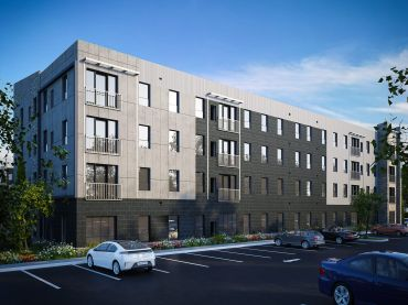 A rendering for the planned Auden Buffalo student housing project near the campus of SUNY Buffalo.