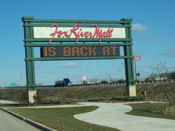 Signage for the Fox River Mall in Appleton, Wis.