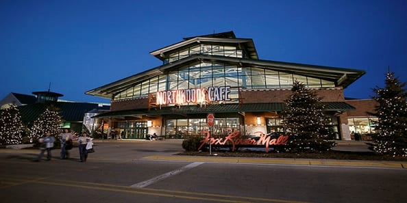 Fox River Mall frontage.