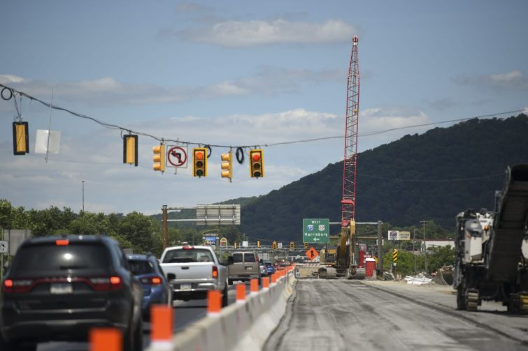 Construction along I-81 in Pennsylvania this summer. The highway runs into I-78 East, which goes to New York City.