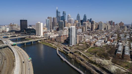 An aerial view of Philadelphia, which is home to assets within the Cabot portfolio.