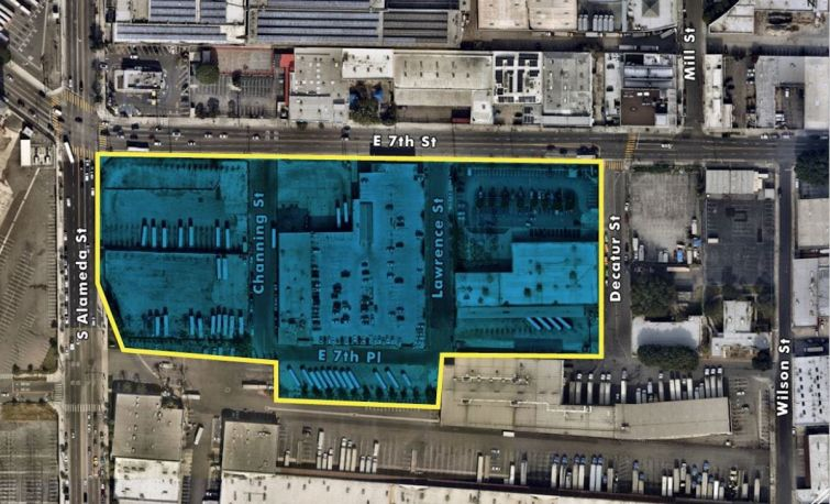The 8.29-acre site is located at 1526-1716 East 7th Street across the street from a future Metro Station.
