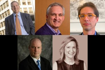 Clockwise from left: Ingram Yuzek Gainen Carroll & Bertolotti, LLP's Robert Banner, the University of Pennsylvania's Mark Kocent, Matiz Architecture & Design's Juan Matiz, New York Institute of Technology's Suzanne Mush and Columbia University's Edward McArthur.
