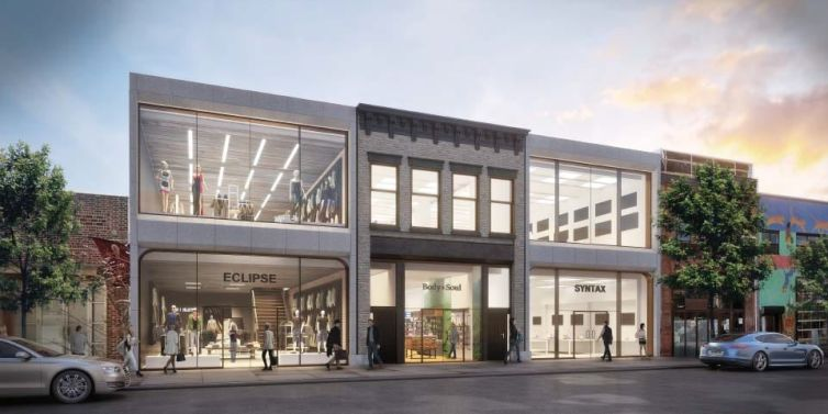 A rendering of 108-112 North 6th Street.