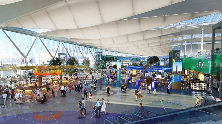 Construction for a new Terminal One at JFK is on hold as airline industry revenue craters during the pandemic.
