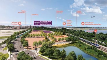 Rendering of Virginia Tech Innovation Campus site.