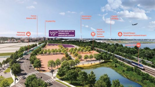Rendering of Virginia Tech Innovation Campus site.