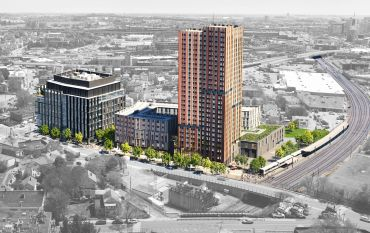 A rendering of the Union Square development.