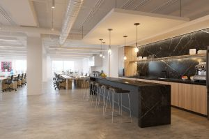 340 Madison 6th Floor Pantry Safety + Flexibility = Sustainable Workplaces